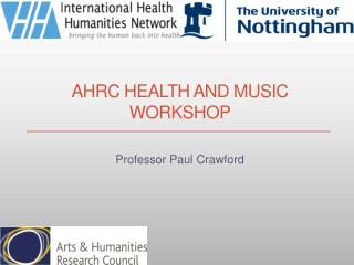 AHRC  Health and Music Workshop