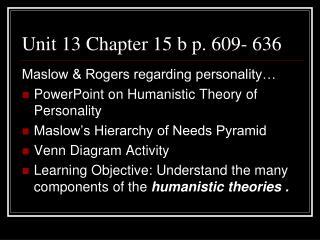 Unit 13 Chapter 15 b p. 609- 636