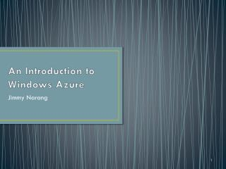 An Introduction to Windows Azure
