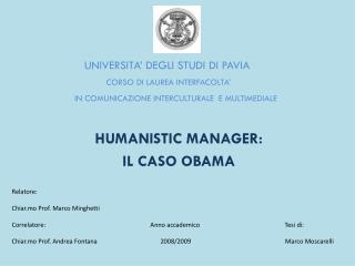 UNIVERSITA� DEGLI STUDI  DI  PAVIA