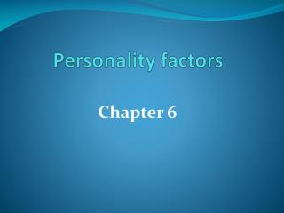 Personality factors