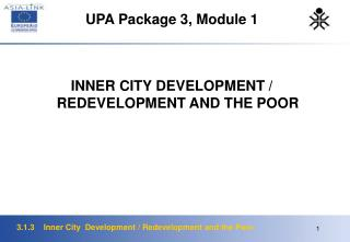 UPA Package 3, Module 1