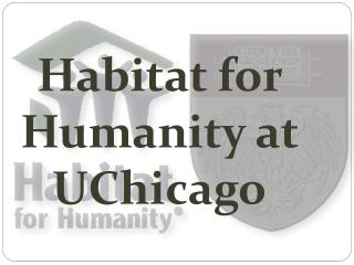 Habitat for Humanity at  UChicago