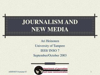 JOURNALISM AND
