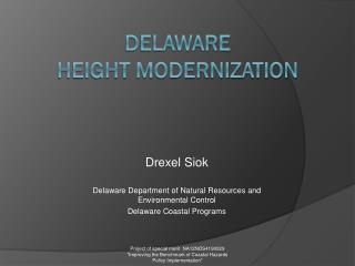 Delaware  Height modernization
