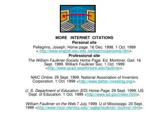 MORE   INTERNET  CITATIONS Personal site