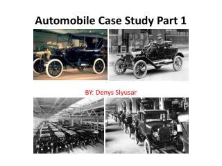 Automobile  Case Study Part 1