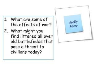 What are some of the effects of war?