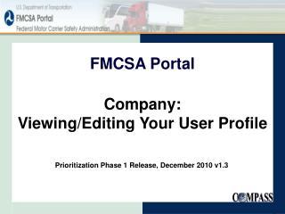 FMCSA Portal