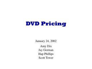DVD Pricing