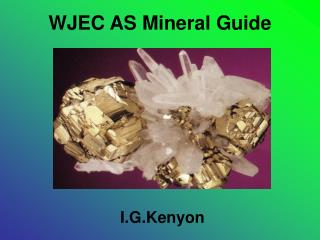 WJEC AS Mineral Guide