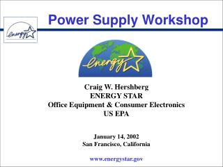 Power Supply Workshop