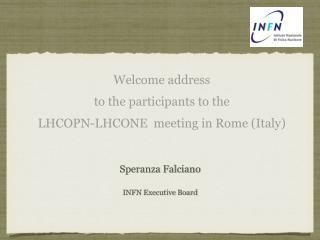 Speranza Falciano INFN  Executive Board