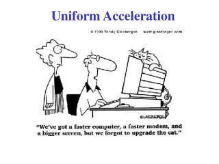 Uniform Acceleration
