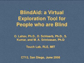 BlindAid: a Virtual Exploration Tool for People who are Blind