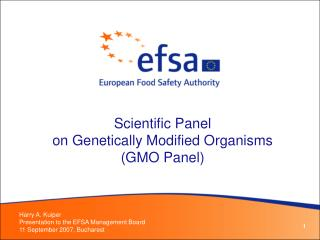 Scientific Panel  on Genetically Modified Organisms  GMO Panel