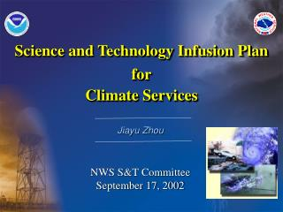 Science and Technology Infusion Plan for Climate Services