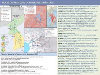 EOA 15 :  KOREAN WAR, OCTOBER-DECEMBER 1950