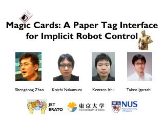 Magic Cards: A Paper Tag Interface  for Implicit Robot Control