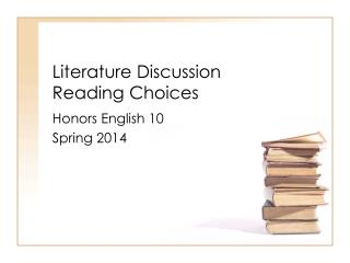 Literature Discussion  Reading  Choices