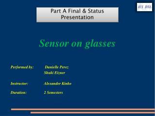 Sensor on glasses