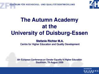 Diversity of the Program: Gender Issue