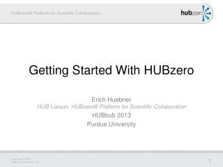Getting Started With HUBzero
