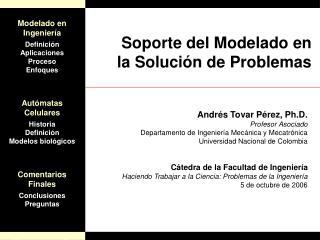 Soporte del Modelado en la Solución de Problemas