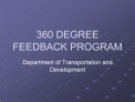360 DEGREE FEEDBACK PROGRAM
