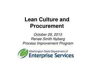 Lean Culture and Procurement