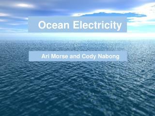 Ocean Electricity