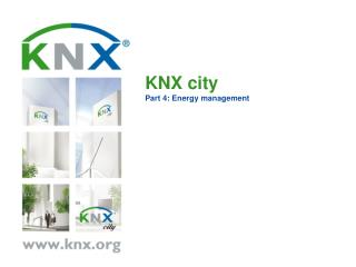 KNX city Part 4: Energy management