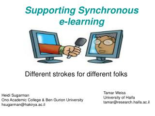 Supporting Synchronous  e-learning