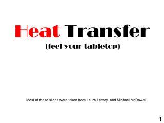 Heat Transfer  ( feel your  tabletop)