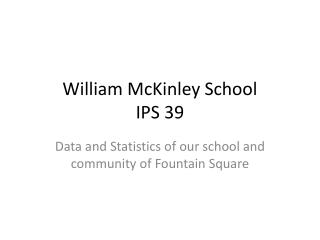 William McKinley School IPS 39