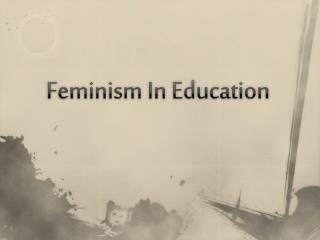 Feminism In Education