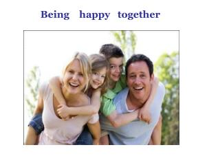 Being    happy   together
