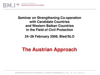 Seminar on Strengthening Co-operation  with Candidate Countries and Western Balkan Countries
