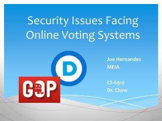 Security Issues Facing Online Voting Systems