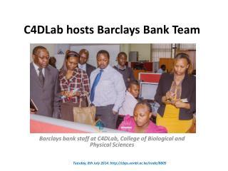 C4DLab hosts Barclays Bank Team