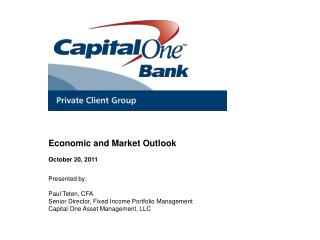 Economic and Market Outlook