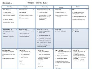 Physics    March  2013