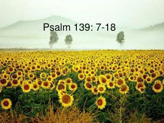 Psalm 139: 7-18