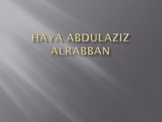 Haya Abdulaziz AlRabban