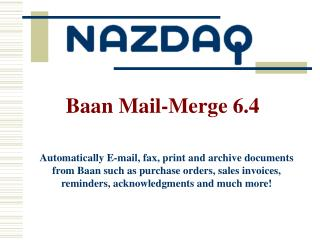 Baan Mail-Merge 6.4