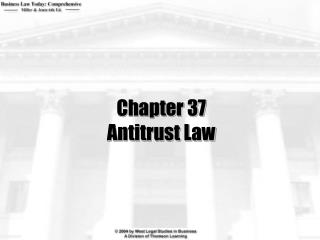 Chapter 37 Antitrust Law