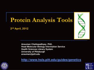 Protein Analysis Tools 2 nd  April, 2012