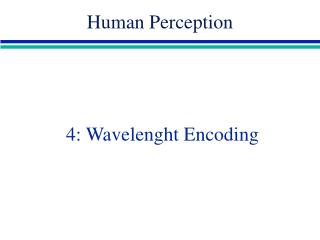 4: Wavelenght Encoding