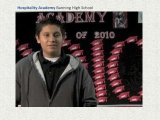 Hospitality Academy Banning High School