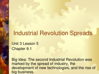 Industrial Revolution Spreads